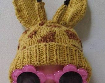 40% OFF SALE madmonkeyknits -Baby Big Ears Giraffe Beanie Hat pdf knitting pattern - madmonkeyknits - Instant Digital File pdf download knit