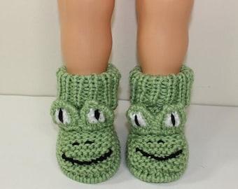 40% OFF SALE Instant Digital File pdf download knitting pattern Toddler Frog Boots