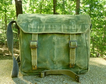 Vintage Canvas Military Messenger Bag Satchel - Grunge Funky