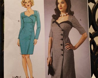 Butterick 5953 Fitted Dress  Size 6-8-10-12-14  new uncut 2013