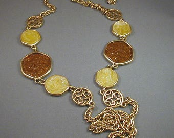 Vintage 1970's Sarah Coventry Long Necklace