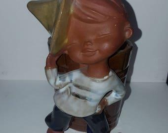 Japanese Porcelain Boy Figurine Planter