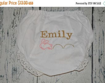 ON SALE Personalized Bunny Bloomers Easter