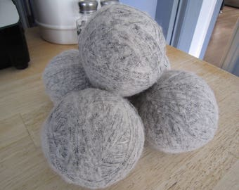 Destash Mohair Grey and Black Yarn