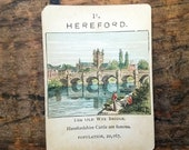 """Vintage, Hereford, """"Counties of England Series 1"""", Single Game Card, Circa 1900s Victorian Era"""