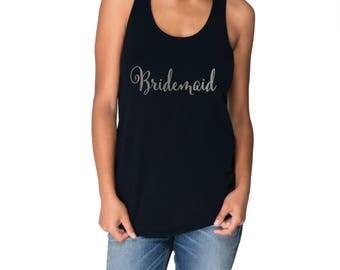 Bridesmaid Tank - Style 1 - Bridal Racerback Tank Top, Bachelorette Party Shirts, Bachelorette Party Tanks, Bridesmaid gift