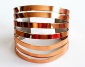 Wide Vintage Cuff Bracelet, Vintage RENOIR Copper Modernist Split Cuff Bracelet, Modernist Copper Jewelry, Huge Copper Cuff