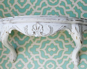 Vintage Burwood Wall Shelf , Bed Crown , Nursery Canopy Crown , Paris Apartment & Shabby Chic Wall Hanging Decor