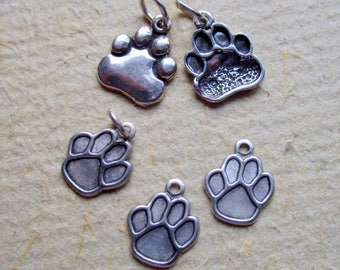 Sterling Silver Bear or Dog Paw Charms