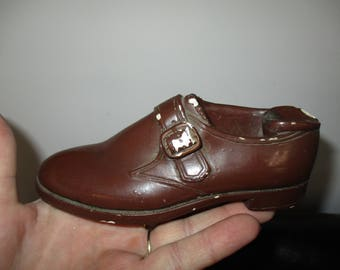 Men's Brown Florsheim Shoe - Store Display Advertising  Florsheim Oxfords WingTip Leather Shoes  Chalkware