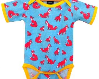 Handmade / Bodysuit / fox / baby clothes - Sly Guy