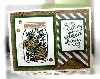 Christmas Card- Stampin' Up Wishing You a Season of Cheer