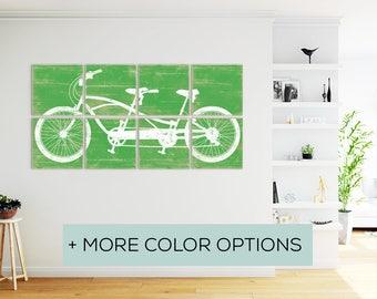 Tandem Cycle - Extra Large Wall Art - Tandem Bike Wall Art - Tandem Bike Print - Tandem Bike Art - Bicycle Tandem - Extra Large Wall Art