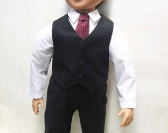 "Black Dress Suit for 23"" MyTwinn Boy Doll"