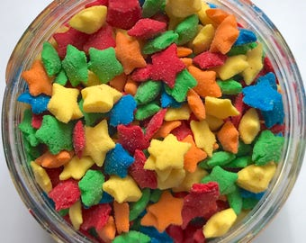 "RAINBOW STAR Sprinkles, 1/4"" Colorful Tiny Stars"