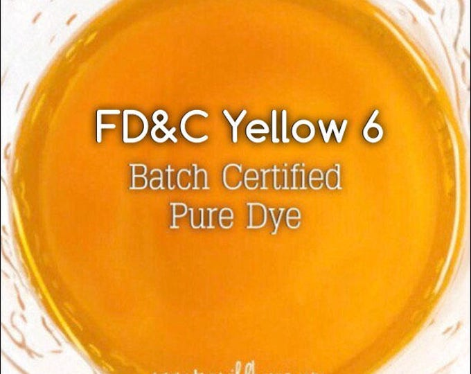 CLEMENTINE Batch Certified FD&C Yellow 6, 93% PURE Dye, Cosmetic Powdered Water Colorant, 1 oz