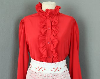 Vintage 1970s Red Blouse
