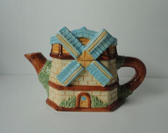 1983 House Of KATAYAMA  Ceramic Windmill Teapot. Free Shipping