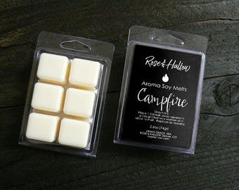 Campfire Candle Tarts - Scented Wax Melts - Highly Scented Wax Cubes, Candle Tarts, Coconut Soy Wax Tarts, Camp Fire Tarts by Urban Chaos