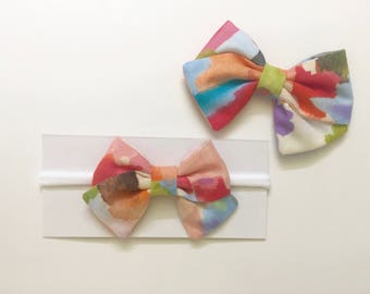 Summer Watercolor Bow -