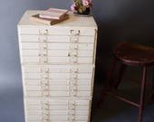 RESERVED Vintage 15 Drawer Wood Cabinet