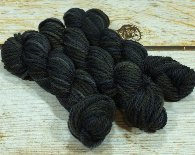 """Wee Llineage Worsted """" Clever Raven """" Semisolid Hand Dyed Yarn 20 g / 50 yd"""