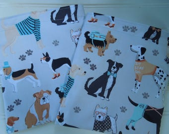 Reusable sandwich bag - Reuse sandwich bag - Pet treats reusable bag - Fabric sandwich or snack bag - Dog lovers