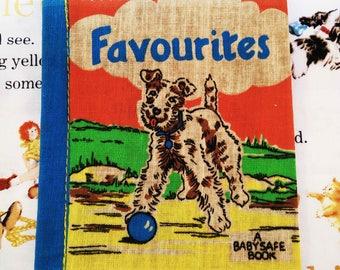 Vintage Cloth Book, deans rag book, vintage rag book, new old stock, cloth book, rag book, favorites, vintage child book, 1950s child book