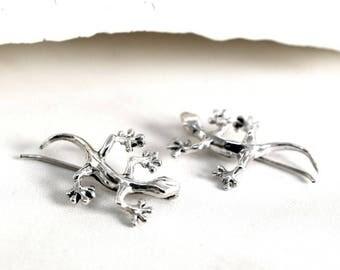 925 sterling silver earrings - Salamander
