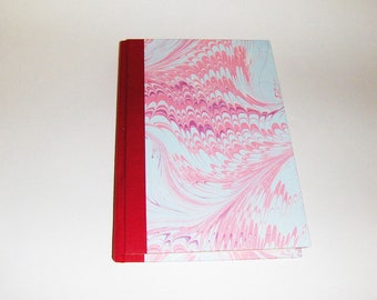 Marbled paper  address book desk. Hand bounded Florentine style -   cm 14.5 x 21.  1003A