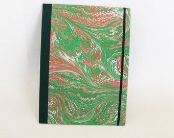 Marbled paper Folder for documents. Hand bounded   cm 25 x 35 cm.  1010