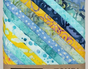 12 Fat Quarter Angelfish Tonga Treats Batiks fabric for quilting Timeless Treasures Layer Cake