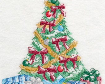 CHRISTMAS TREE (TOILE) - Machine Embroidery Quilt Block (AzEB)