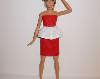 Handmade barbie clothes. Cute outfit for new barbie tall doll