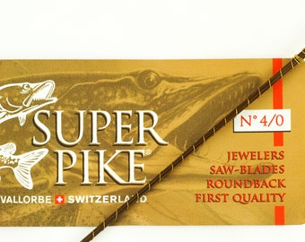 12 Super Pike Blades For Jewelers Saw - Premium Quality - Long Lasting