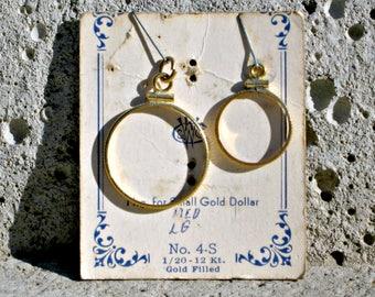 Vintage 1/20 12k Gold Filled Coin Fob Mounting Bezel WR Cobb & Co