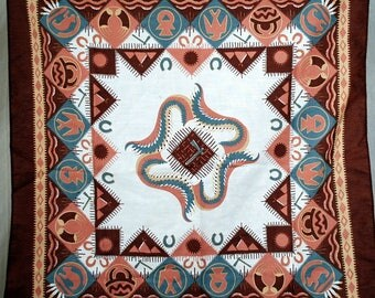 Vintage 80s 90s Southwest Brown Bandana