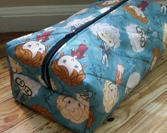 Custom made toiletry case, made to order, personalized, makeup case, travel case, toiletry bag, boxy bag