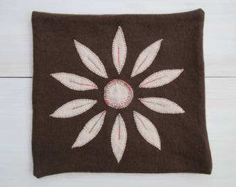 Cashmere cushion cover, brown