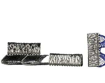 500pcs. 16mm or 5/8 inch  Gunmetal No Loop Ribbon Clamp End Crimps - Artisan Series