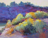 Chama Chamissa Original Pastel painting 9x12 inch from New Mexico