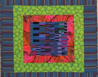 Fassett Squares III Original Fiber Art by Lenore Crawford