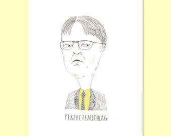 The US Office TV Show Print. Dwight Schrute.