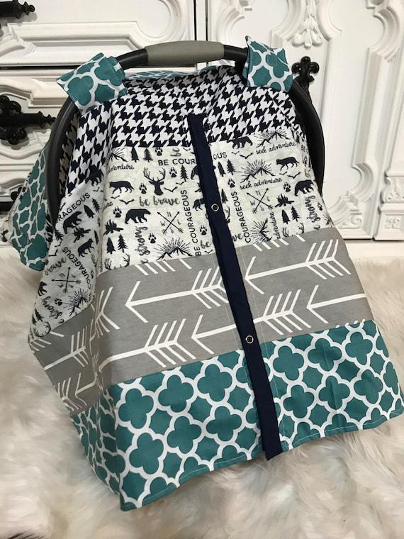 Woodland Car seat canopy / Boy Car seat cover / car seat cover / carseat cover /carseatcover /carseat canopy / baby boy / cars