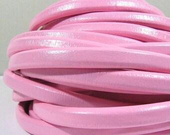 Regaliz Licorice Leather - Bubble Gum Pink - R17 - Choose Your Length