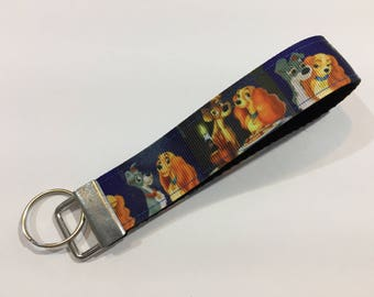 Lady and the Tramp Keychain Wristlet Key Fob
