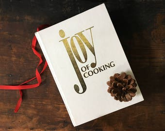 Vintage Joy of Cooking, White Joy of Cooking Book, Classic Recipes, Classic French Cooking, Gift for Hostess, Gift for Foodie