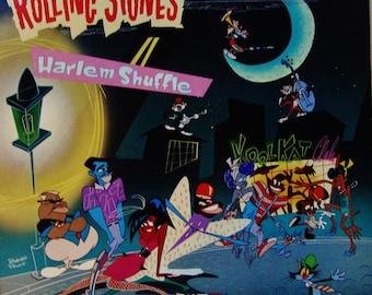 "THE ROLLING STONES ""Harlem Shuffle"" Rare 12"" Single 45 rpm Dirty Work Album 1986 Original Press Vinyl Near Mint Dance Rock Music Video"