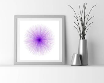 Neuro Science inspired fine art print, by San Francisco generative artist Kristin Henry. fuzzies_9s