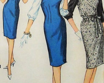 Vintage Jumper Dress and Blouse Sewing Pattern Simplicity 4605 Size 12